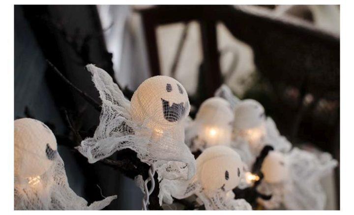4 idées d'Halloween décoration avec fantômes à fabriquer soi-même