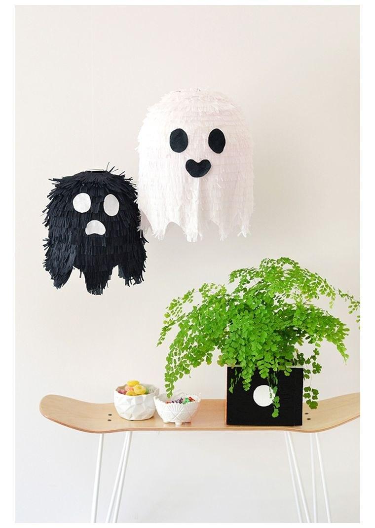 halloween décoration avec-fantome-a-faire-soi-meme-pinata