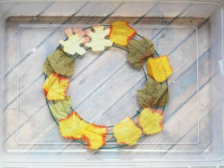 diy décoration avec couronne automnale