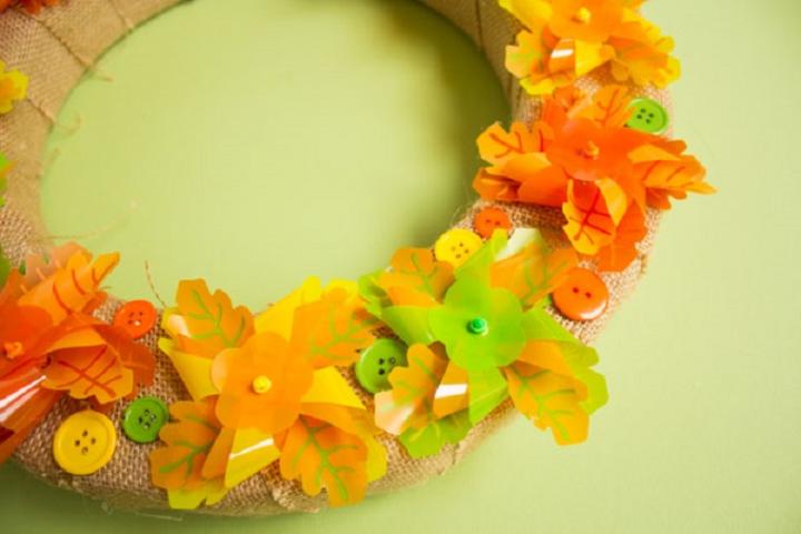 activités manuelles pour l'automne avec couronnes créatives