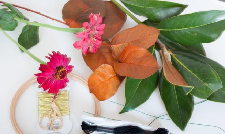 feuilles mortes décoration automnale