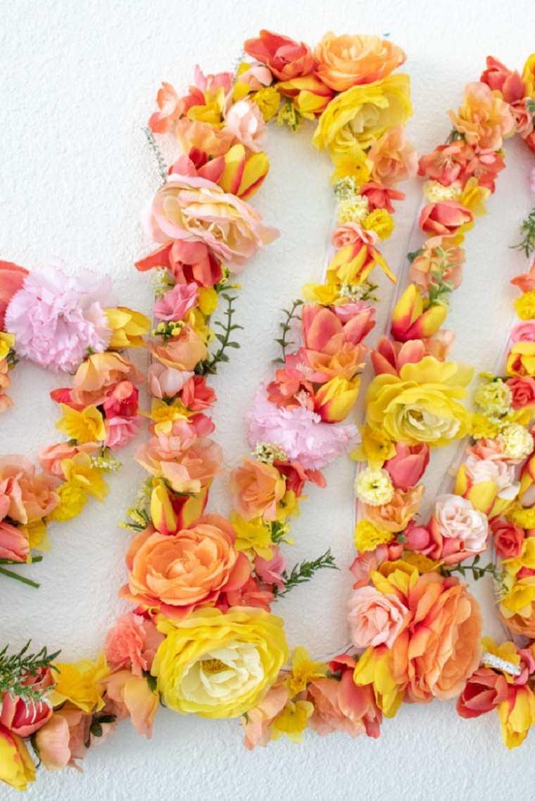 décoration florale d'automne DIY