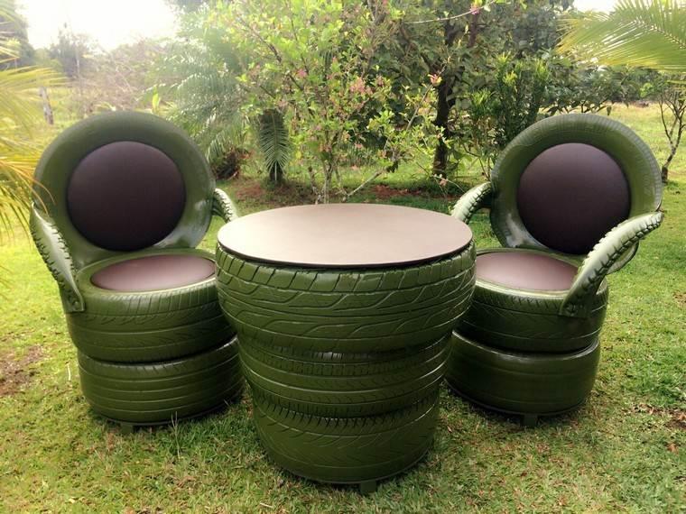 mobilier de jardin pas cher diy pneu jardin meubles