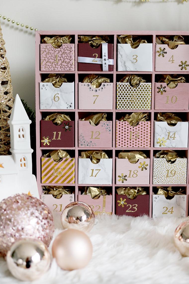 calendrier de Noël avec chocolats