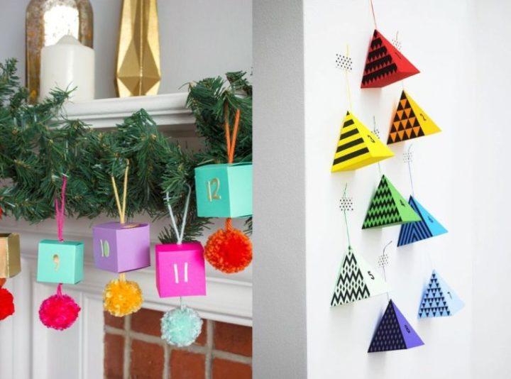 Fabriquer un calendrier de l'Avent fait maison pour accueillir la période des fêtes de fin d'année !