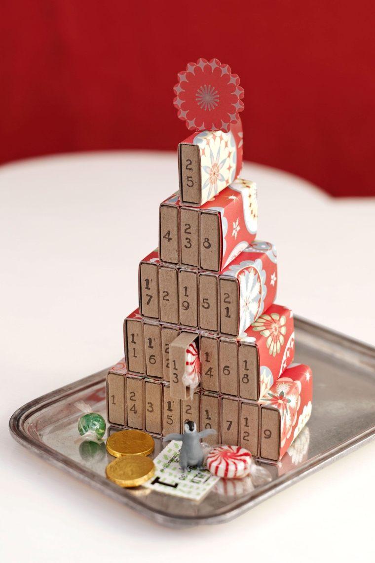 déco de Noël en boites d'allumettes