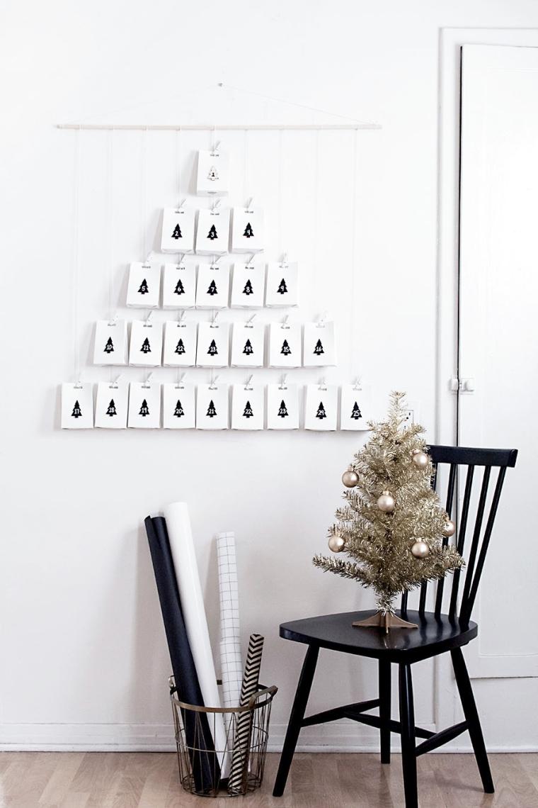 déco de Noël de style minimaliste