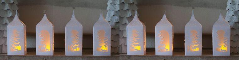 diy déco lumineuse de-noel-en-papier-lanterne