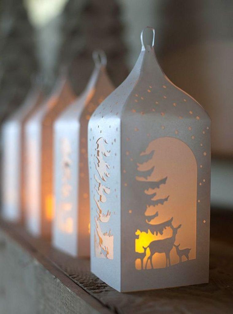 diy déco lumineuse de-noel-lanterne-en-papier-a-faire