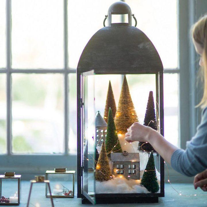 DIY déco lumineuse de Noël en 12 idées pour l'intérieur et pour l'extérieur