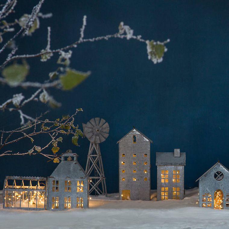 diy déco lumineuse noel-lanterne-village-idee