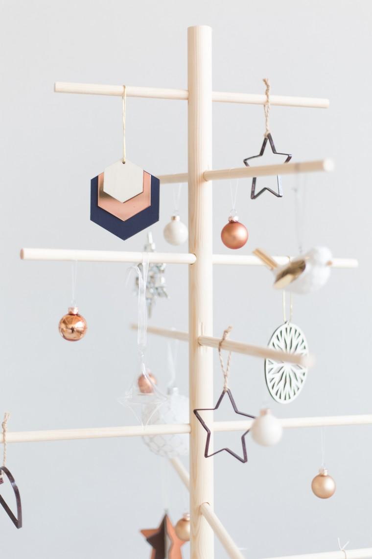 décoration de noël à fabriquer pour adultes sapin alternatif bois