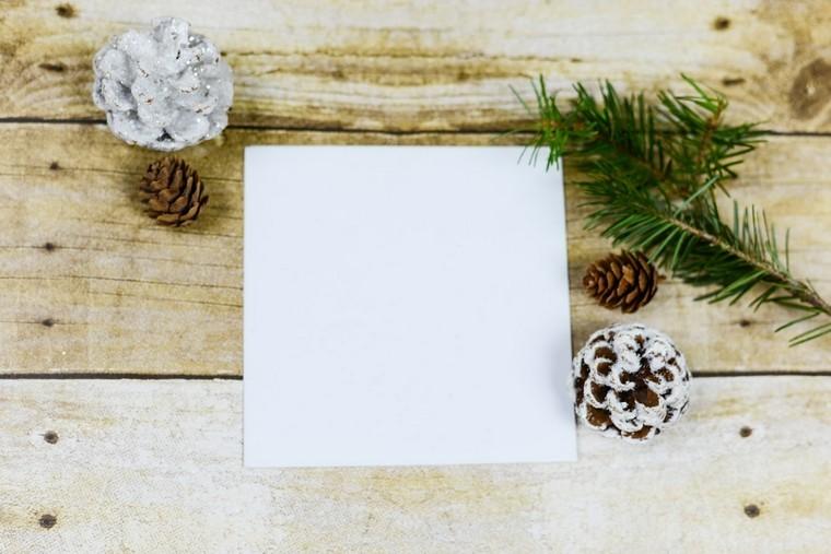 cadeau blanc papier diy pomme de pin