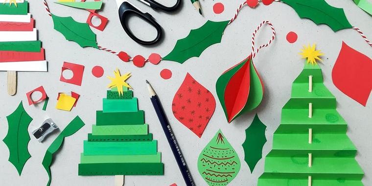 décoration de Noël à fabriquer en papier découpage