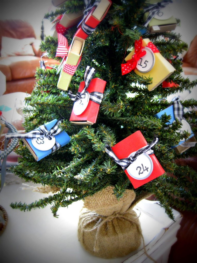 petit sapin de Noël calendrier