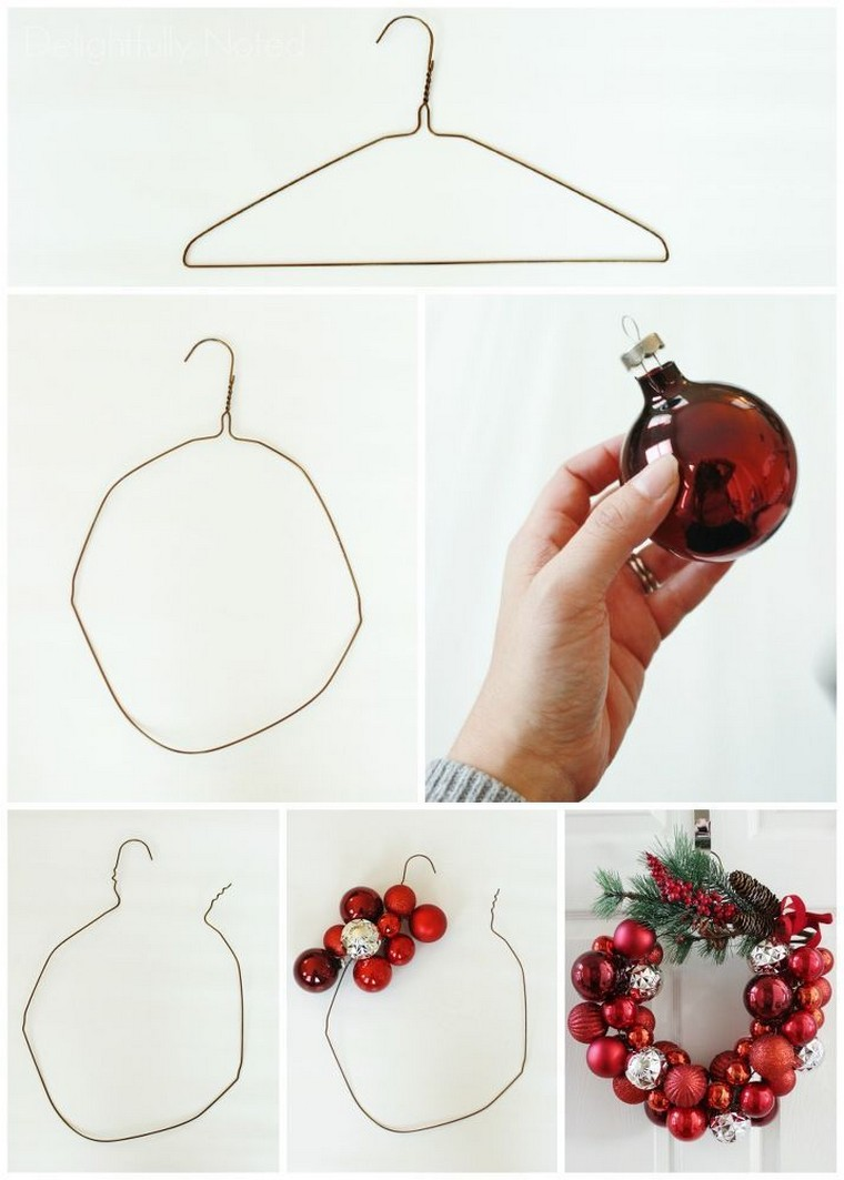 DIY déco Noël couronne noel diy cintre