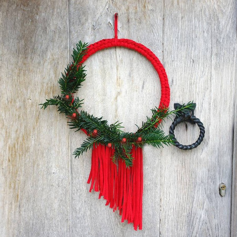 DIY déco Noël déco mur couronne noel diy