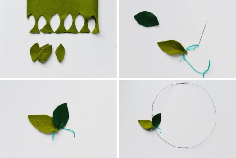 couronne-tissu-feuilles-idee