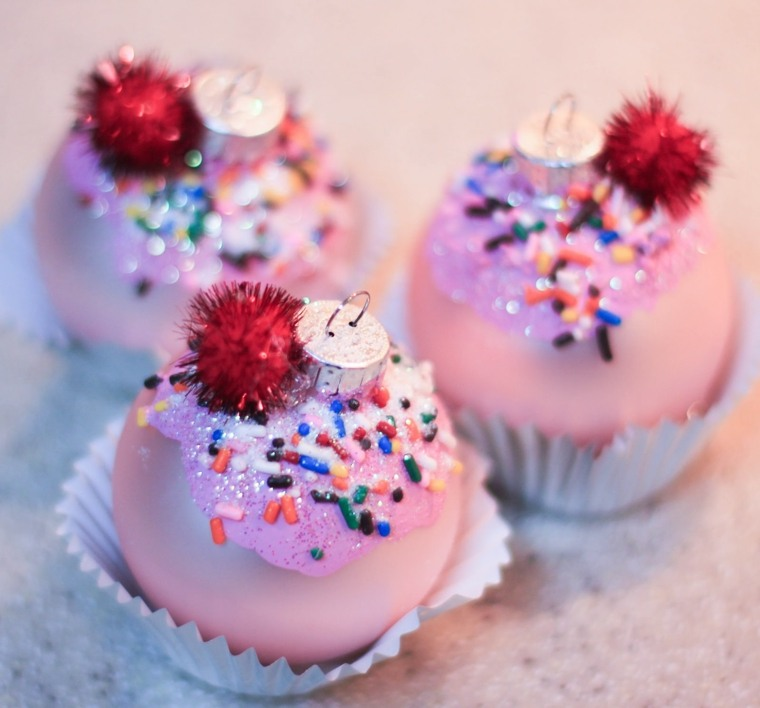 décorations de Noël cupcakes