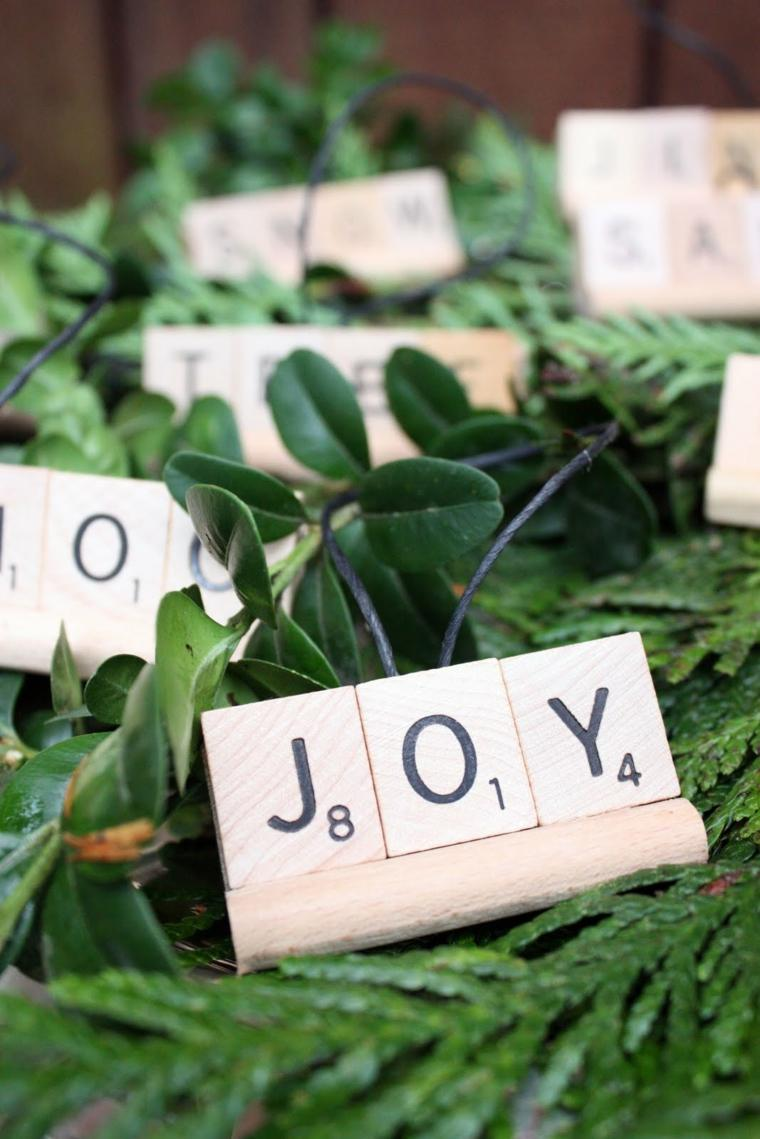 décorations de Noël scrabble DIY