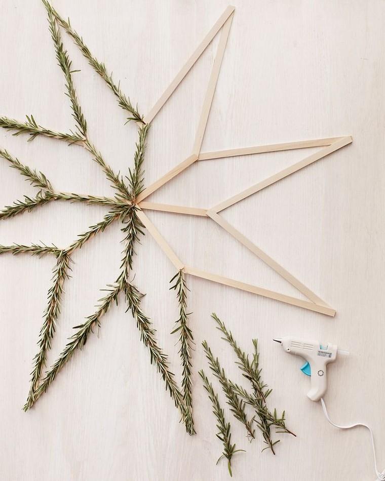 diy déco noël étoile bois fabriquer décoratio noël