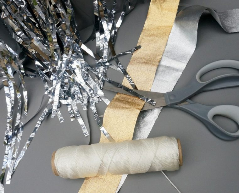 guirlande de Noël DIY matériaux