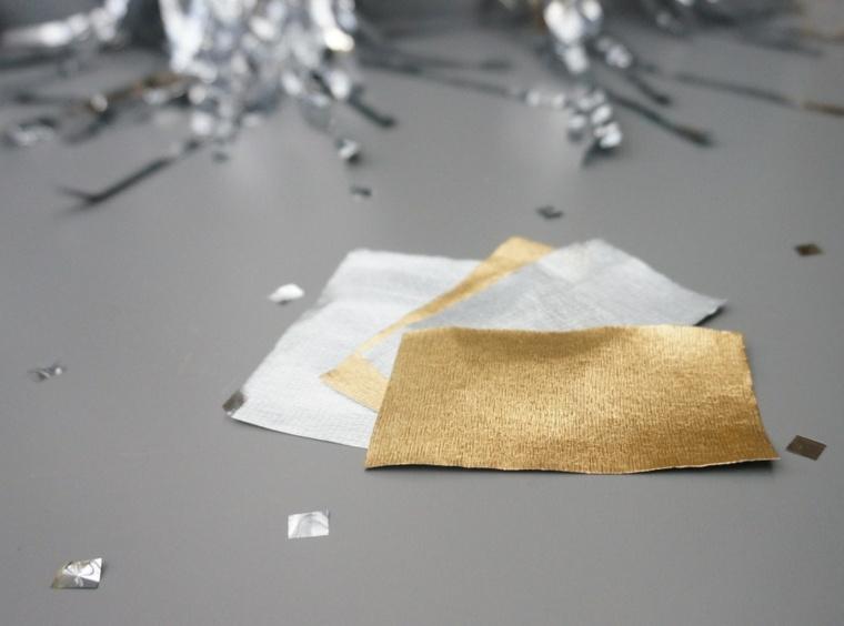 guirlande de Noël DIY papier crepon