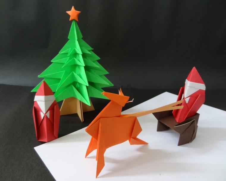 diy déco origami idée déco papier fabriquer noël