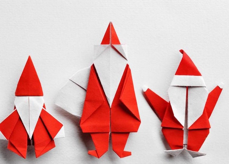 diy déco Noël origami père noel