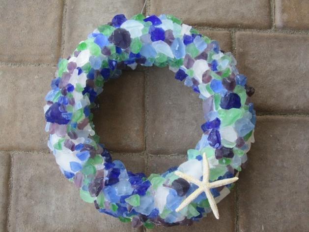 Magie bleue maritime des petits cristaux et pierres