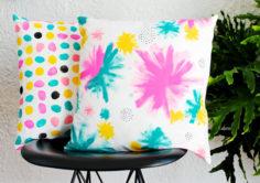 DIY – Peindre des coussins à la main