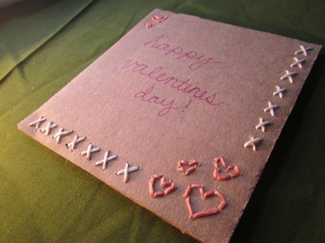 carte Saint Valentin DIY rose