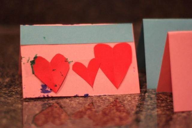carte Saint Valentin DIY rouge
