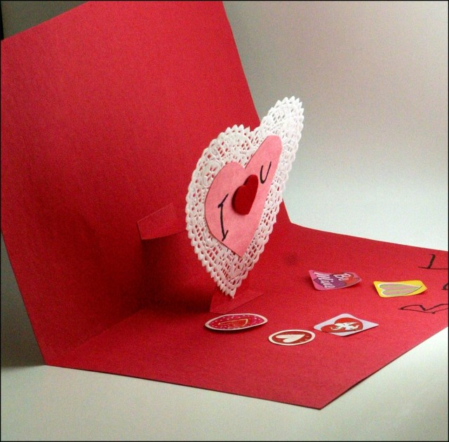 carte de Saint Valentin rellief