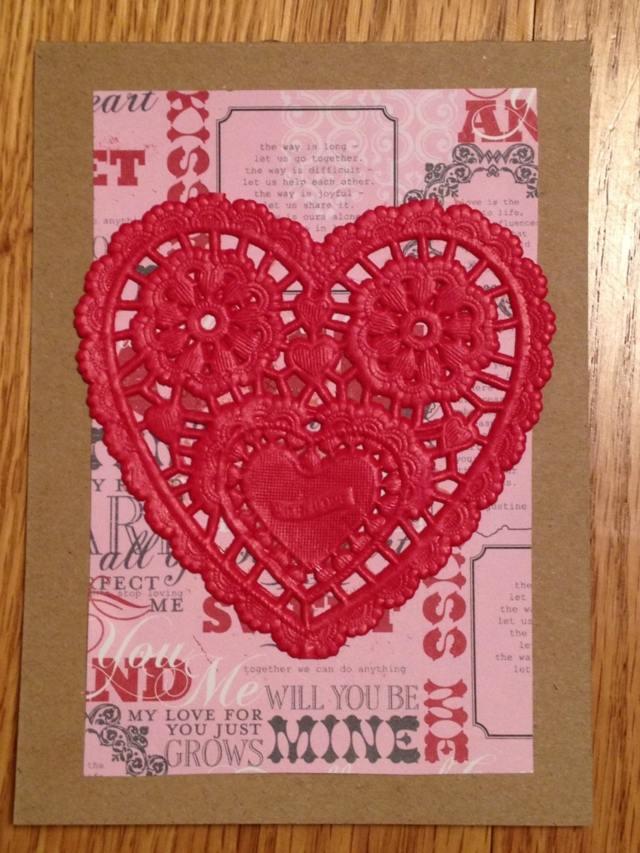 carte de Saint Valentin DIY brodée