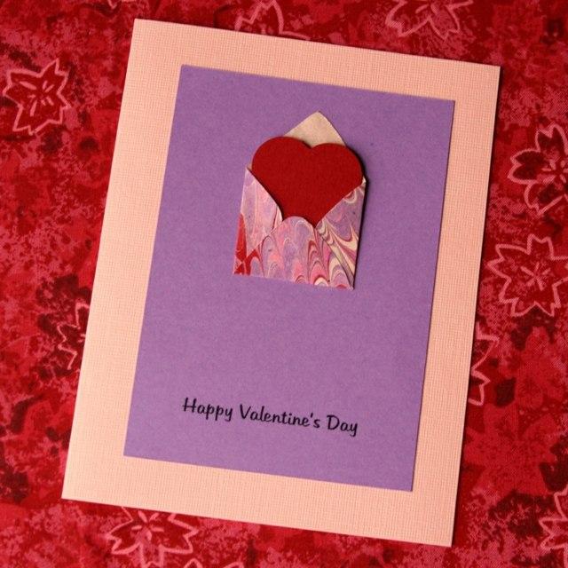 Carte de Saint Valentin enveloppe