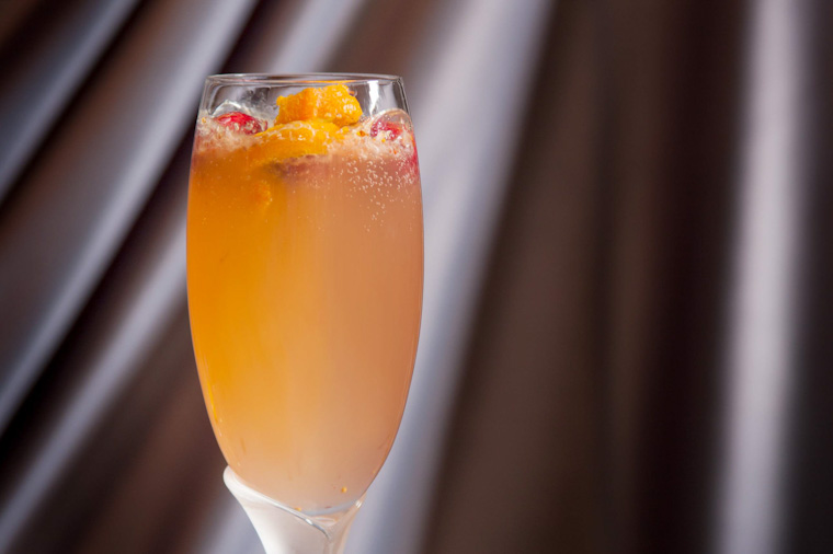 cocktail champagne pour la st valentin