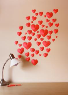 Idées déco St Valentin DIY : des petits cœurs en 3D