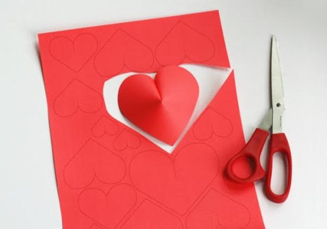 déco St Valentin petits coeurs