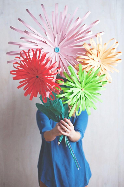 cadeau saint valentin DIY fleurs papier idées