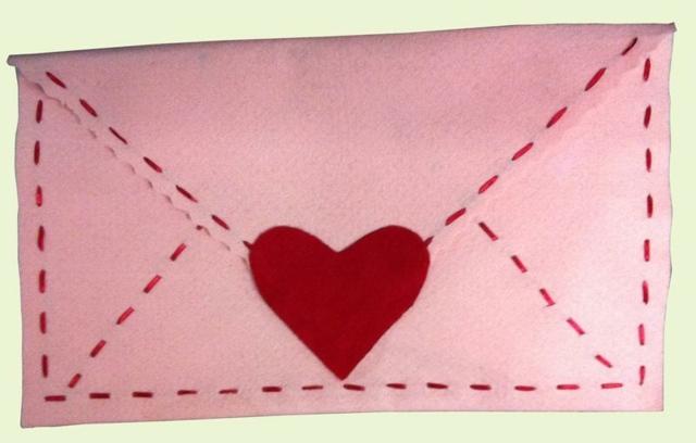enveloppe Saint Valentin carte