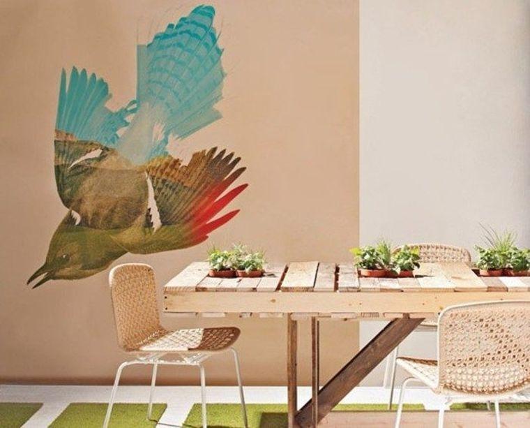 meuble en palette table bois design salle a manger decoration pas cher