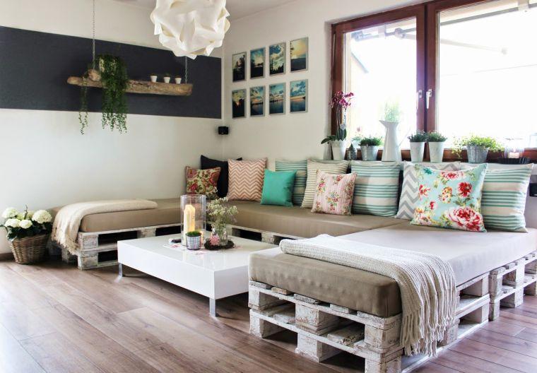 meuble en palette de bois plan banc canapé d'angle diy deco