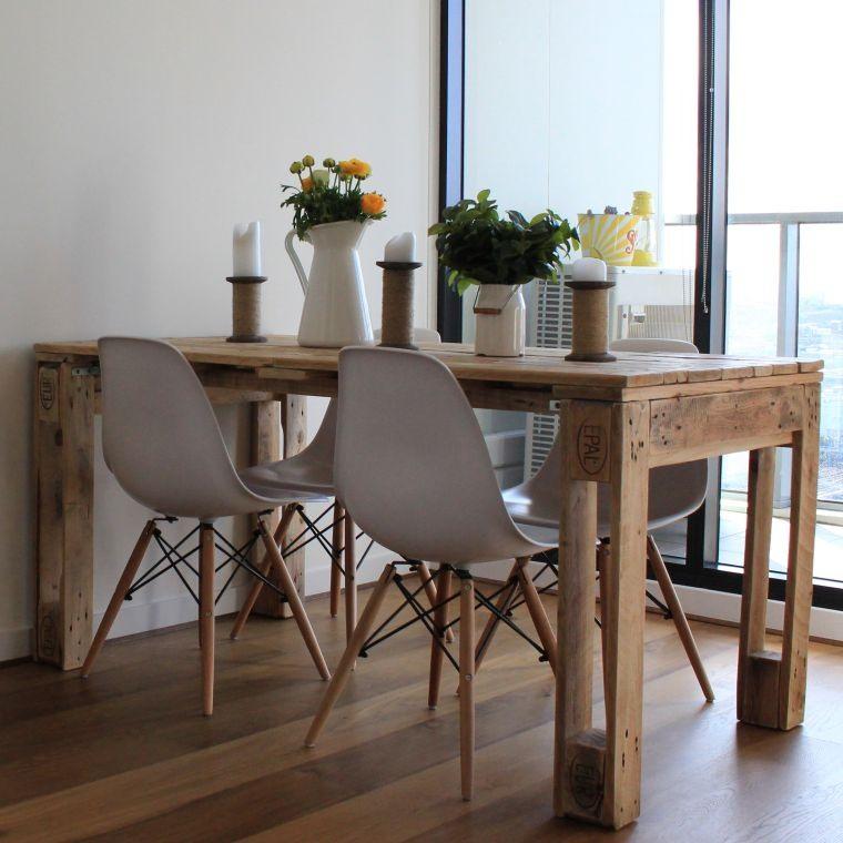 meuble en palette de bois decoration pas cher fabriquer une table a manger