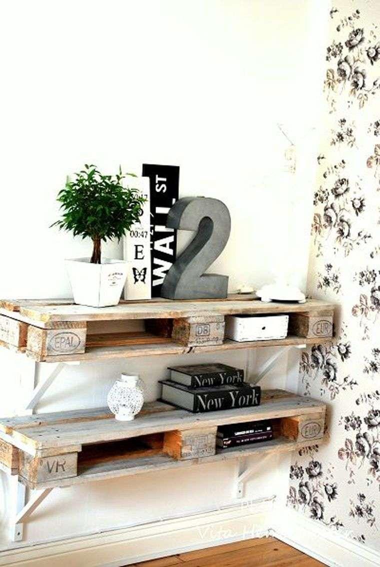meuble en palette bois bricolage etagere murale supports ecran plat