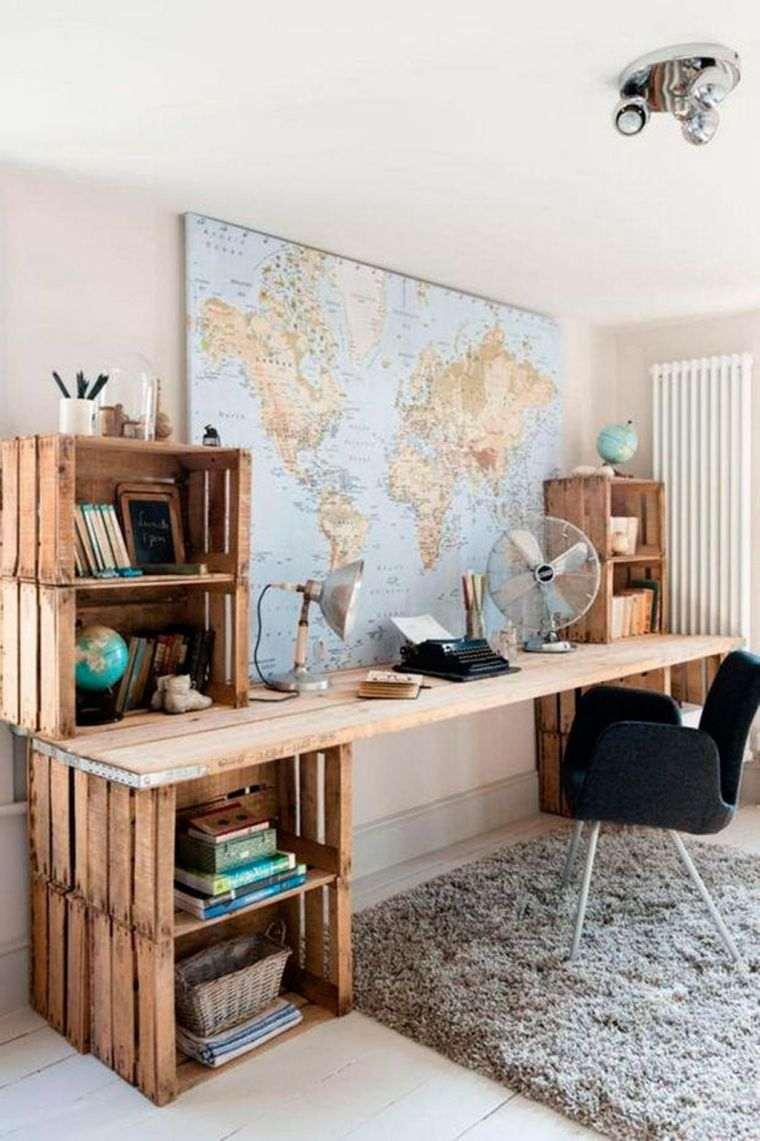 meuble en palette de bois modeles faire un bureau recup