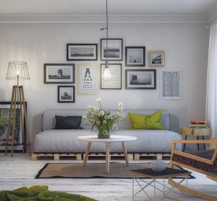 meuble en palette de bois plan canape sur estrade palette deco salon tendance
