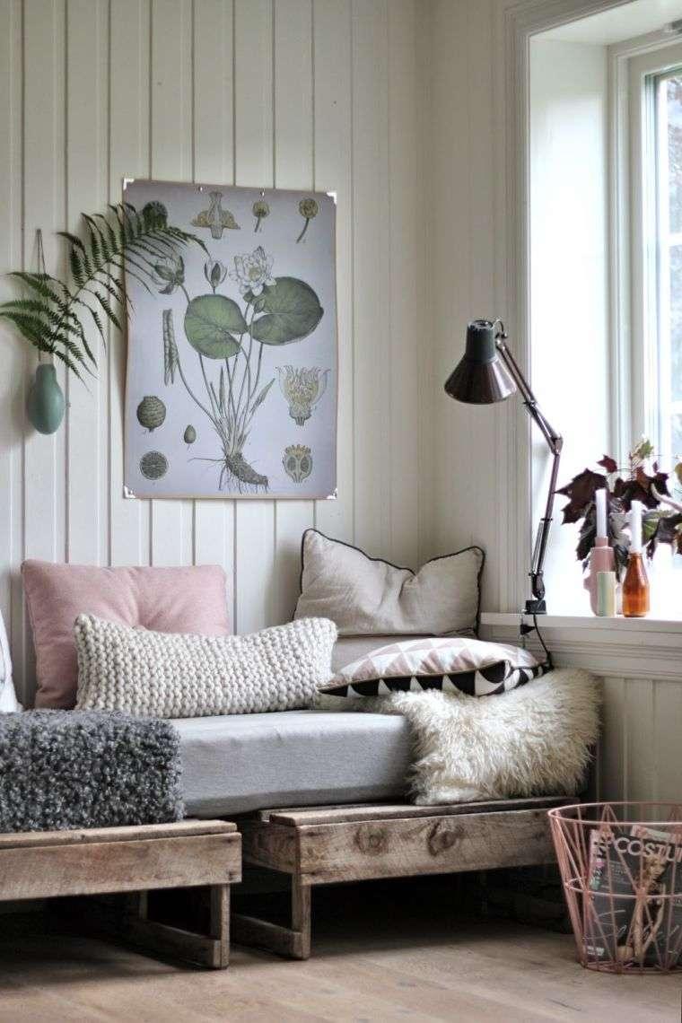 meubles en palette amenagement coin lecture deco nature mobilier bois a faire soi meme