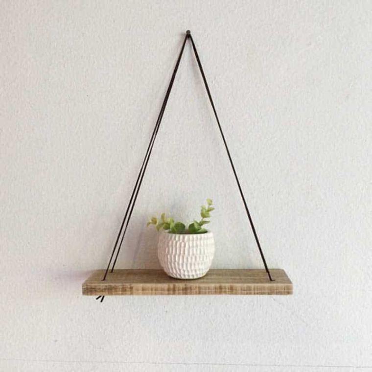 petites etageres palette de bois decor mural suspension à faire