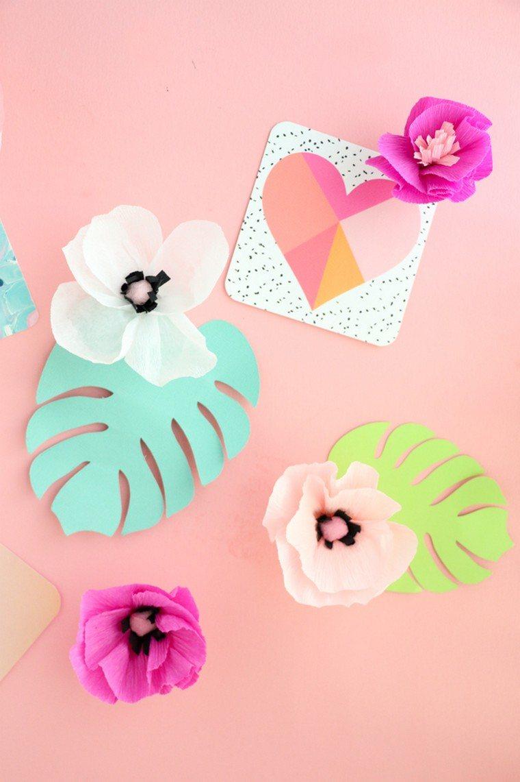 cadeau saint valentin diy idée fleurs papier diy